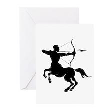 The Centaur Archer Sagittarius Zod Greeting Cards