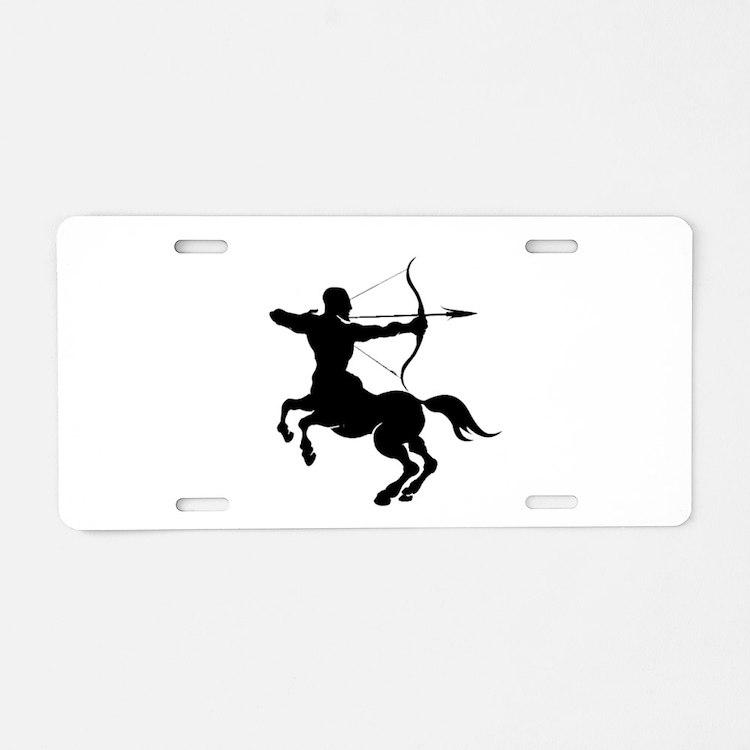 The Centaur Archer Sagittar Aluminum License Plate