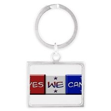 Cute Obama supporter Landscape Keychain