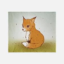 Cute Little Fox Throw Blanket