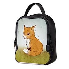 Cute Little Fox Neoprene Lunch Bag