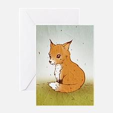 Cute Little Fox Greeting Card