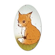 Cute Little Fox Wall Decal
