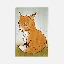 Cute Little Fox Rectangle Magnet