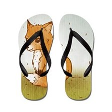 Cute Little Fox Flip Flops