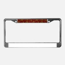 Gold And Maroon Red Vintage Fl License Plate Frame