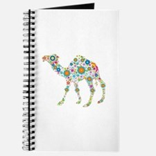 Colorful Retro Floral Camel Journal