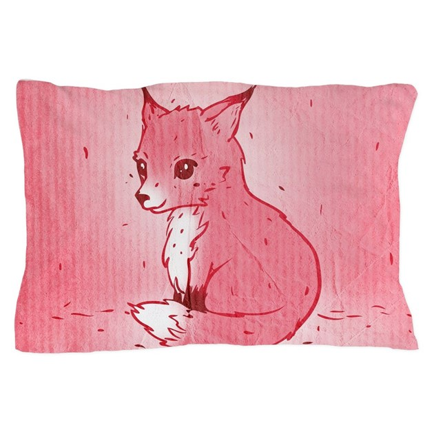 How To Make A Cute Pillow Case : Cute Pink Fox Pillow Case by trendyteeshirts