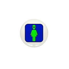 Alien Woman Mini Button (100 pack)