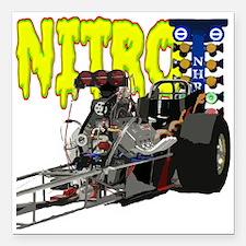 "Nostalgia Nitro Square Car Magnet 3"" x 3"""