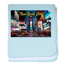 Times Square New York City baby blanket