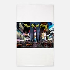 Times Square New York City Area Rug