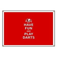 Have Fun Play Darts Banner