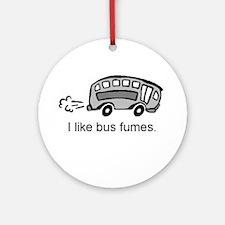 Bus T Shirt Ornament (round)