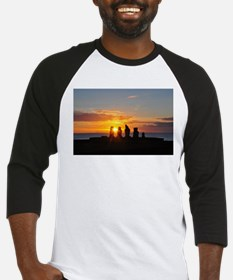 Easter Island Sunset 2 Baseball Jersey