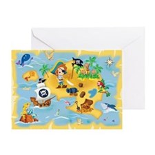 little pirate Greeting Card