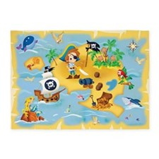 little pirate 5'x7'Area Rug