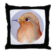 Cute Robin redbreast Throw Pillow
