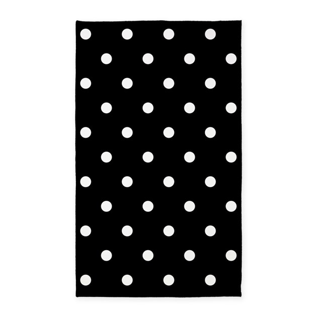 BLACK AND WHITE Polka Dots Area Rug By BeautifulBed