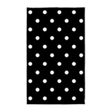 Black and white polka dot 3x5 Rugs