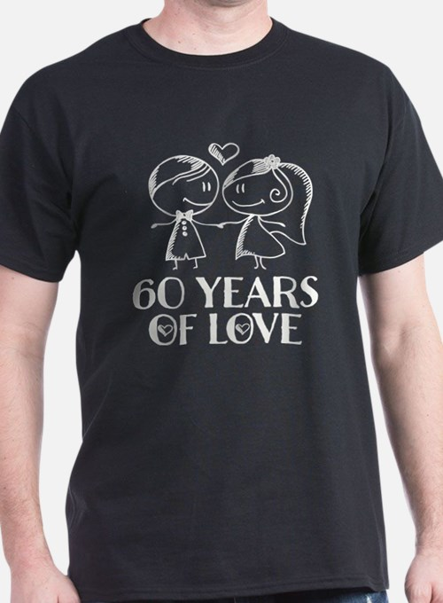 60th Anniversary chalk couple T-Shirt