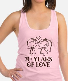 70th Anniversary chalk couple Racerback Tank Top