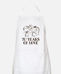70th Anniversary chalk couple Apron