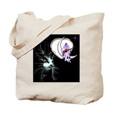 Cat Pierrot Moon Valentine's Day Tote Bag