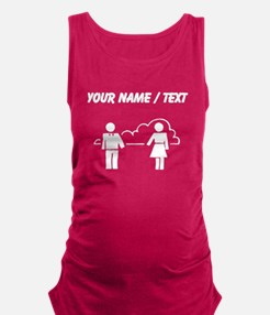 Custom Man And Woman Maternity Tank Top