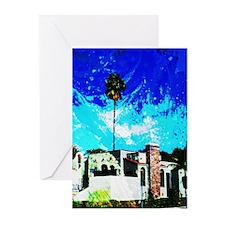 Cute California home Greeting Cards (Pk of 10)