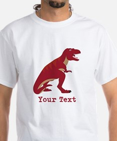 Red T-Rex Dinosaur with Custom text T-Shirt