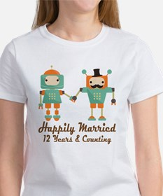 12th Anniversary Vintage Robot Cou Tee