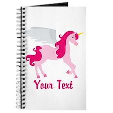 Cute Pink Flying Unicorn Journal