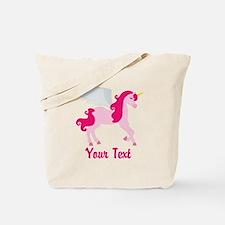 Cute Pink Flying Unicorn Tote Bag