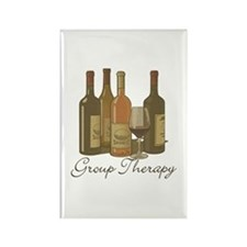 Wine Group Therapy 1 Rectangle Magnet