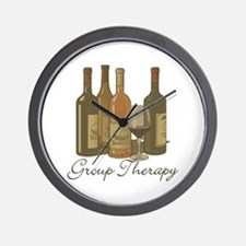 Wine Group Therapy 1 Wall Clock