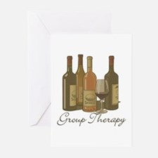 Wine Group Therapy 1 Greeting Cards (Pk of 10)