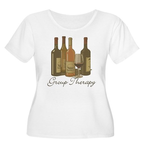 Wine Group Therapy 1 Women's Plus Size Scoop Neck