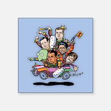 """Jan '15 Clown Car Square Sticker 3"""" x 3"""""""