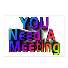 YOU Need A Meeting Postcards (Package of 8)