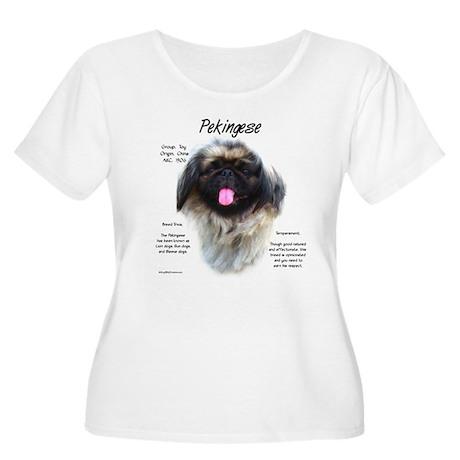 Pekingese Women's Plus Size Scoop Neck T-Shirt