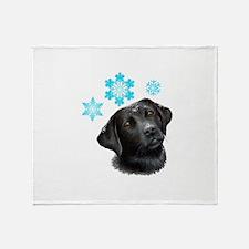 Dog 100 black Labrador Snow Throw Blanket