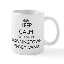 Keep calm we live in Downingtown Pennsy Mug