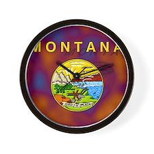 Montana State Flag Wall Clock