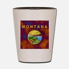 Montana State Flag Shot Glass
