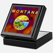 Montana State Flag Keepsake Box