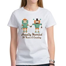 34th Anniversary Vintage Robot Cou Tee