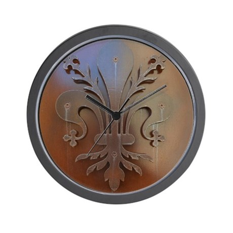 High Quality Fleur De Lis Wall Clock