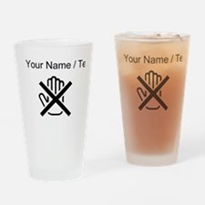 Custom Do Not Touch Drinking Glass