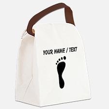 Custom Left Footprint Canvas Lunch Bag